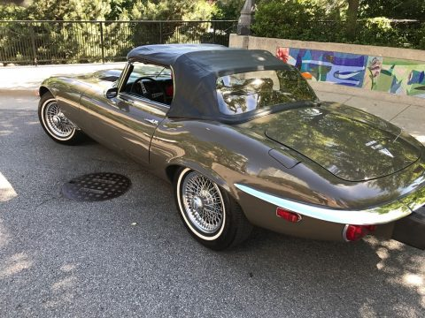 1974 Jaguar E Type XKE Convertible Brown with Tan Interior for sale