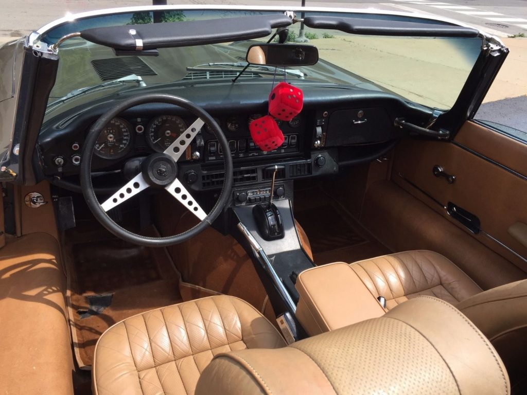 1974 Jaguar E Type XKE Convertible Brown with Tan Interior